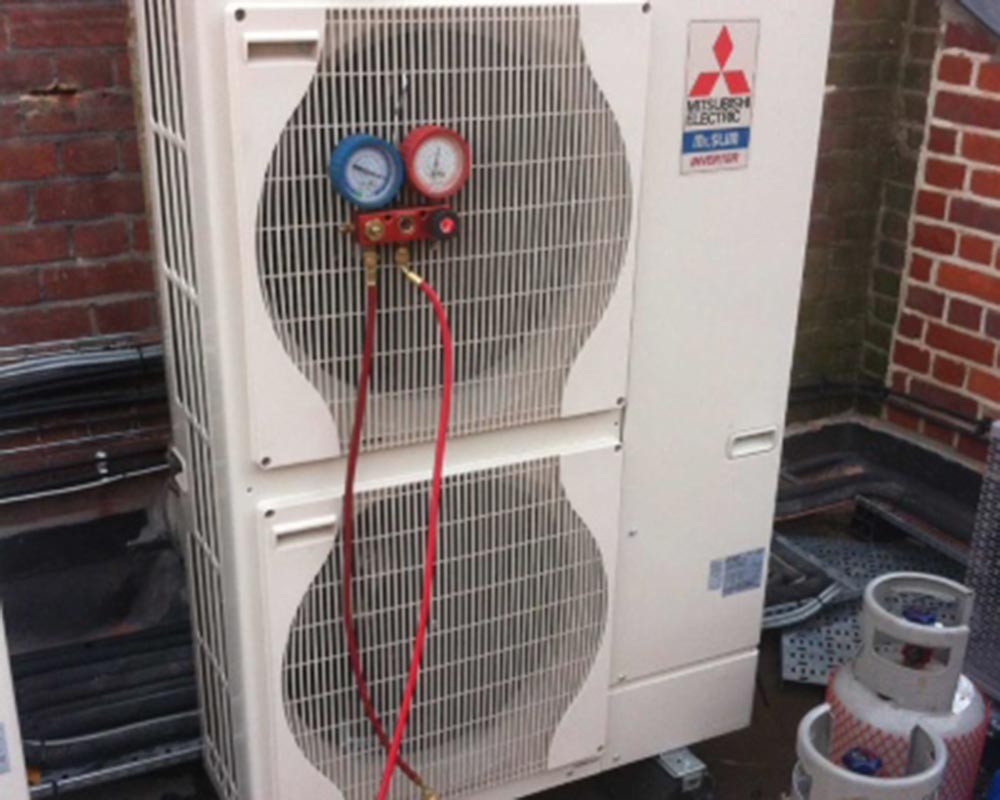 air conditioning unti on rooftop in London